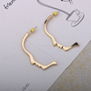 High Quality Face Design Gold Plated Designer Stud Women Earrings