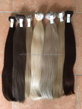 Silky machine weft hair Russian color human hair body straight 50cm double drawn