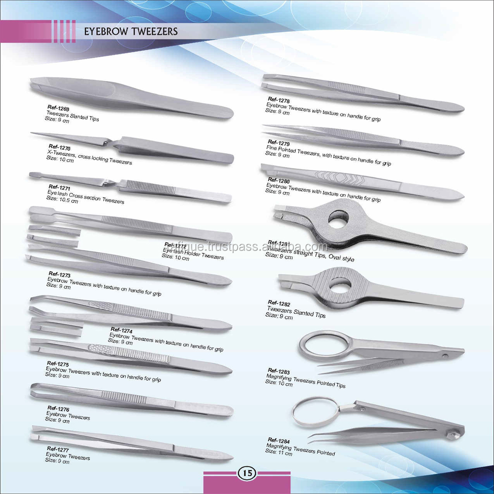 Professional salons personalized tweezers stainless steel eyebrows tweezers
