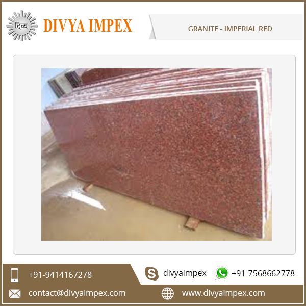 Indoor and Outdoor Use Indian Imperial Red Granite Slabs and Tiles