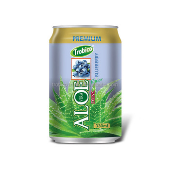 330ml Premium Aloe Vera Drink with Blueberry flavor from Tribico Brand