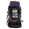 Get Unbarred Adventure Stylish Series 55 Ltr Bag for Trekking Hiking Camping and Travel Backpack - Purple/Black