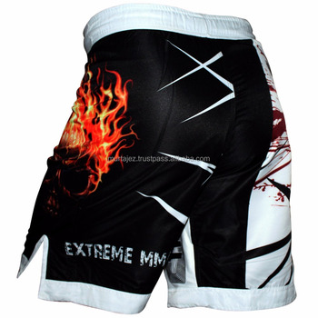 wholesale gym sport shorts polyester plus size mma shorts