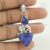 Blue sapphire gemstone charm 925 sterling silver jewelry pendants wholesaler
