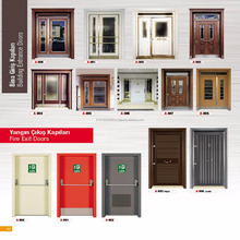 Turkish Main Entrance Exterior Cheap Steel Security Door Design