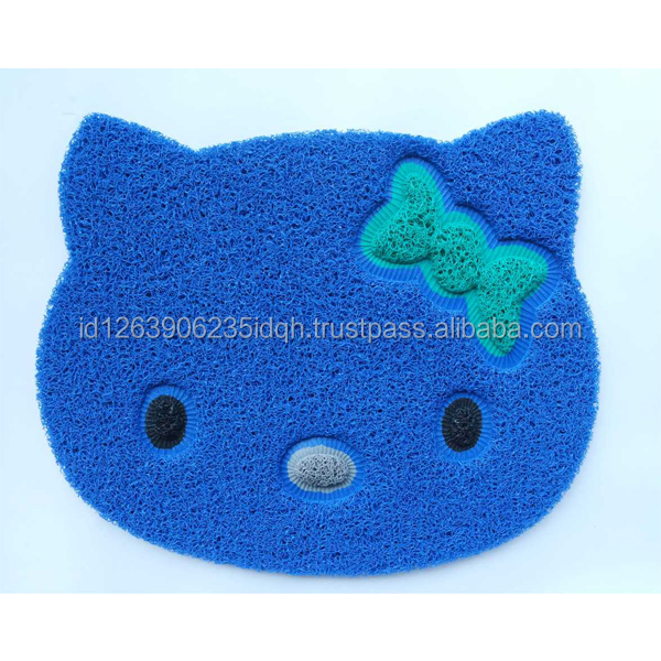 Wholesale PVC Material Rubbet Mat Hello Kitty Design Multi Colour