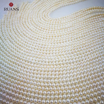 5.5-6 mm AAA2 Freshwater Cultured White Pearl Strands
