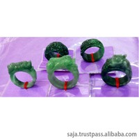 Jadeite natural gemstone, Jadeite ring for man