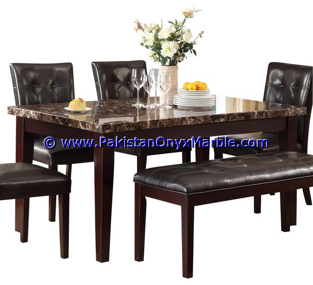DECORATIVE MARBLE TABLES DINING MODERN STYLE TABLES ROUND SQUARE RECTANGLE HOME DECOR FURNITURE
