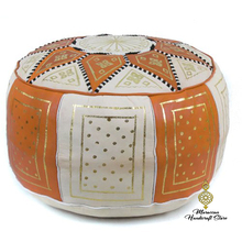 Moroccan Pouf Ottomans Handmade Leather Luxury Footstools