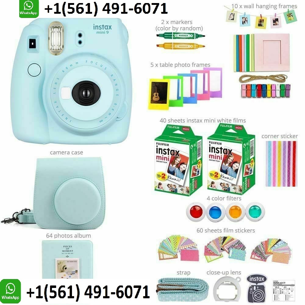 Nuovo Originale Fujifilm Instax Mini 9 Immediata Film Camera-Blu Ghiaccio - ANKUX Tech Co., Ltd