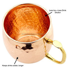 Premium Quality German Style Copper Beer Stein - 100% Pure Hammered Copper Mug for Moscow Mules
