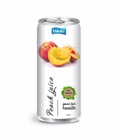 Asia Vietnamese beverage manufacture 100% Peach juice fruit drink with tin can 330ml