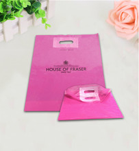Fashionable Punch Patch Hole Virgin LDPE Plastic Bag with Customized Logo