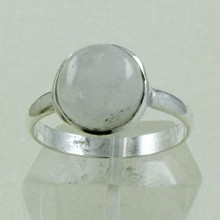 Beautiful Rainbow Moon Gem Stone 925 Sterling Silver Ring Jewellery Supplier India