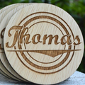 Laser etched coasters | wood laser cut coasters | wood carved coasters