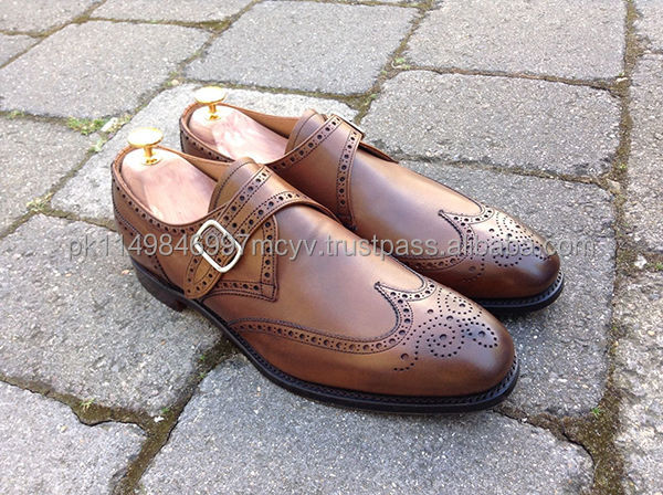 Monk strap brogue shoes latest design brouge