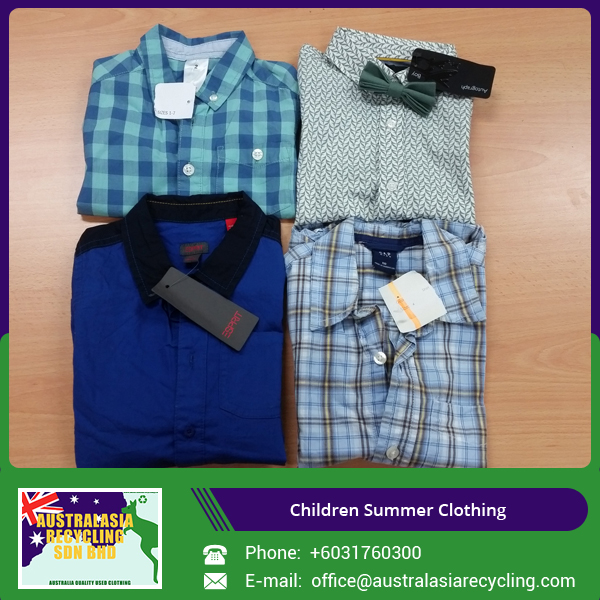 Bulk Quantity Supplier of Summer Children Clothing/ Kids Used Cloth