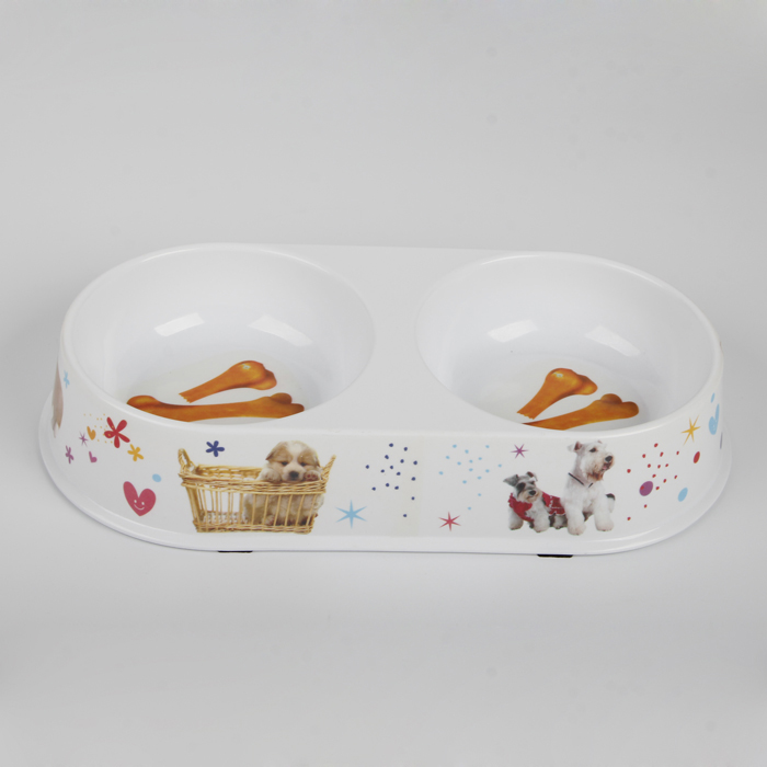 10Inch double melamine pet bowl