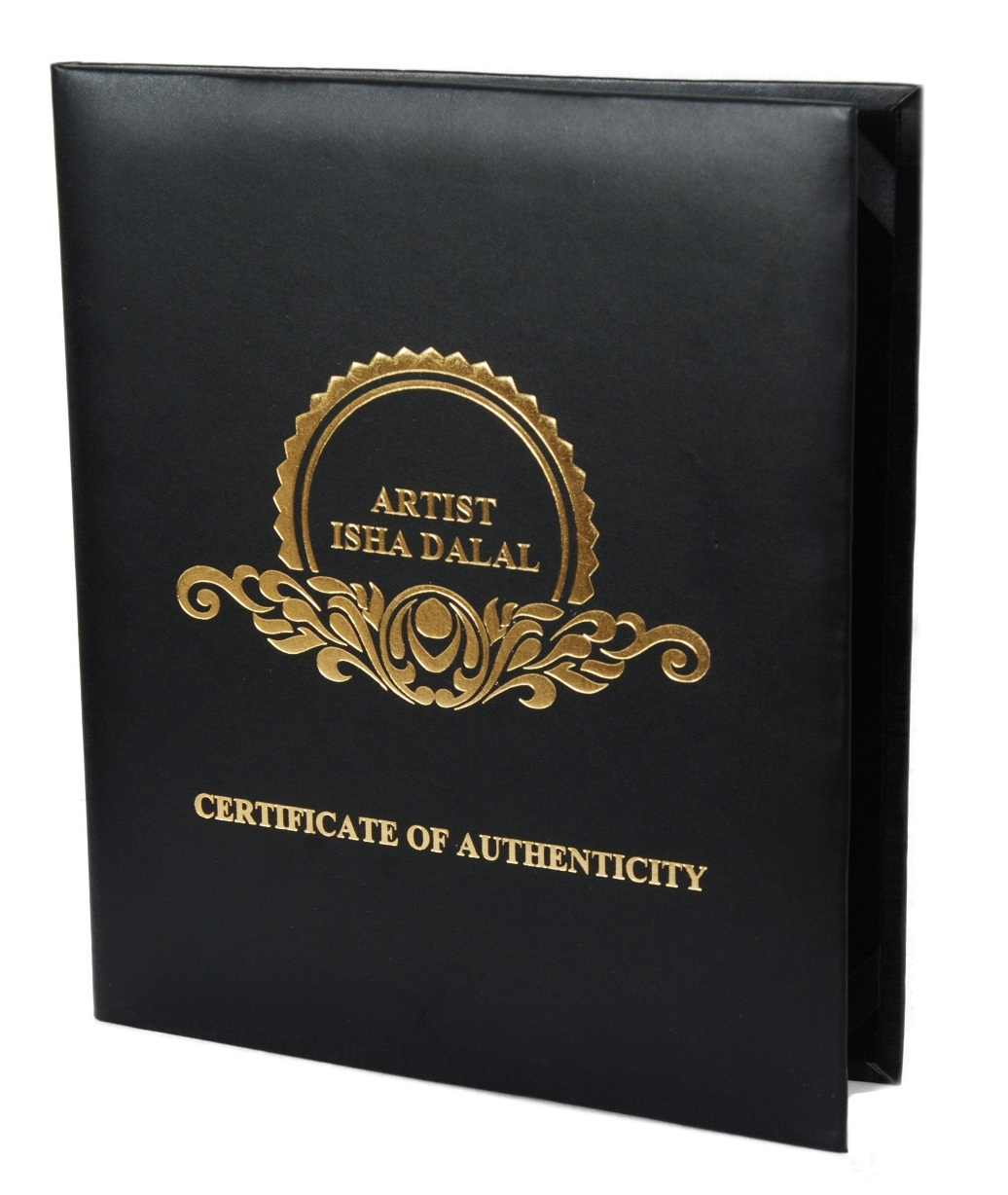 Premium Quality Leather Certificate Holder Customizable Diploma Cover Black With Customizable Logo Print