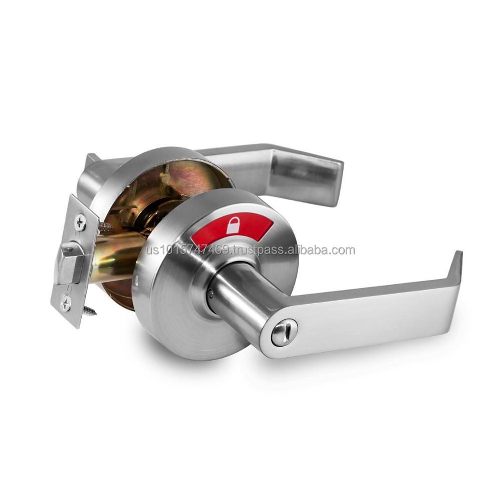 New Design. Commercial Lock with Graphic Indicator in 26D Satin Chrome (C3FL) - Bay Ridge Collection