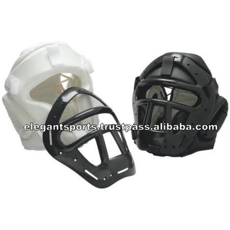 Plastic Cage Grill Boxing head guard Leather Head Guards