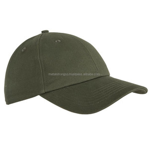 Olive Green Military Baseball Cap Plain Custom Embroidered 100% Cotton Army Hats