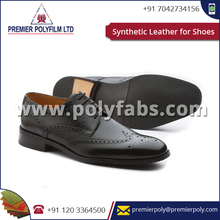 Affordable PVC Synthetic Shoe Leather, PU Bulk Leather for Shoes