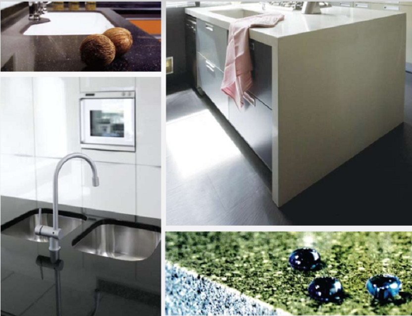 ACELITE Solid Surface Material for kitchen countertop, reception counter