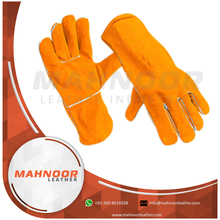 "14"" Orange Welding Gloves Kevlar Stitched"