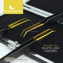 Vetus Eyelash Extension Tweezers Set/ Black Vetus Tweezers Set/ Best Quality Vetus Lash Tweezers