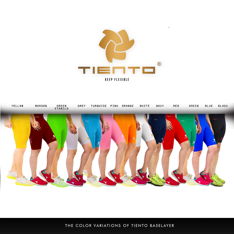 Tiento Unisex Baselayer Tight Compression Leggings Short Pants All Sports