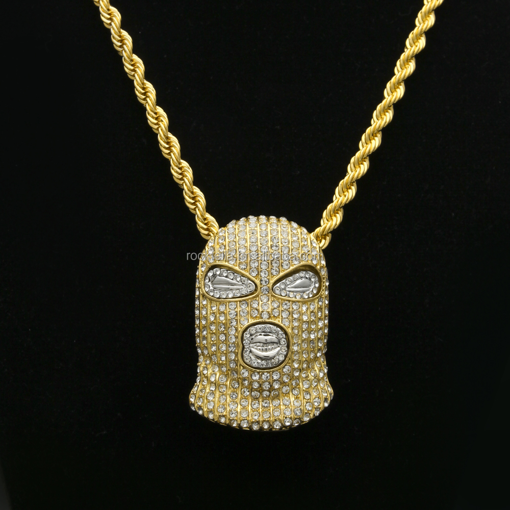 NO FACE NO TRACE NO CASE HIP HOP PENDANT