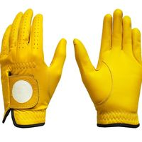 New Golf Glove Color Yellow Full