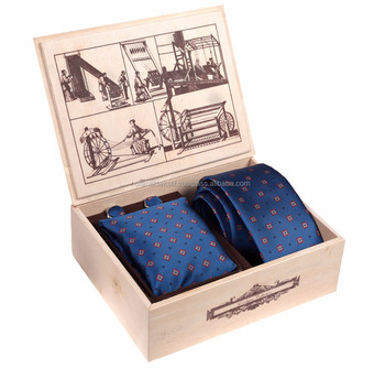 Wood box, Crismas gift, necktie with pockt square and cufflink, weiddng gift, tie set
