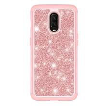 Protective Bling Glitter 2in1 PC TPU Phone <strong>Case</strong> Cover for One Plus 6T - 1+6T
