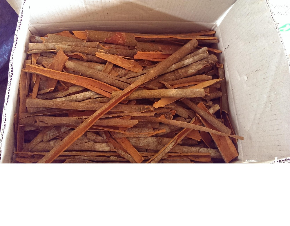 Split cassia packed in carton box, 20-25kg net, 2.5% oil content and fragrant odour