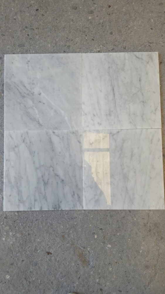 BIANCO CARRARA TILES 30X30X1CM POLISHED