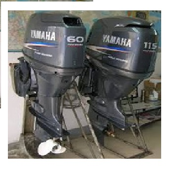 FREE SHIPPING FOR USED YAMAHA 60 HP 4-STROKE OUTBOARD MOTOR ENGINE