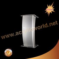 Acrylic lectern with table PC holder for stage manufacture/pulpit