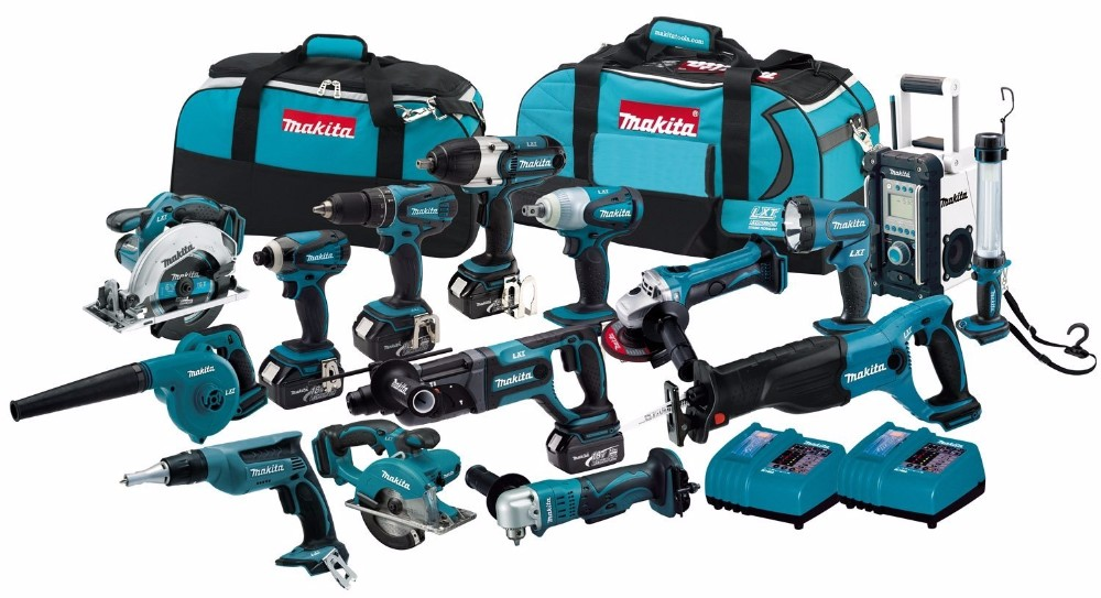 Original Makita power tools LXT1500 18-Volt LXT Lithium-Ion Cordless 15- Piece makita Combo Kit
