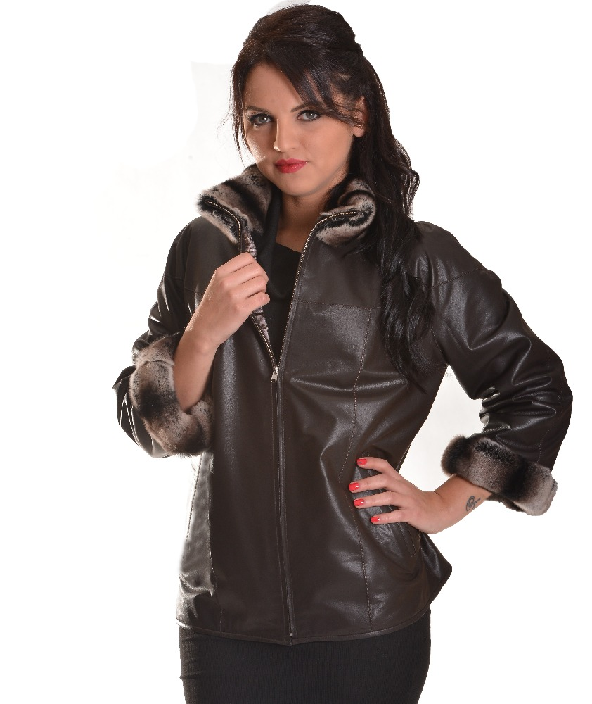 Leather Coat for Ladies