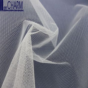 LCY685-2S Taiwan Soft Ivory Nylon Voile Tulle Roll Fabric Wedding
