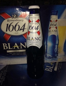 Beer Kronenbourg 1664 blanc 250ml blue bottle