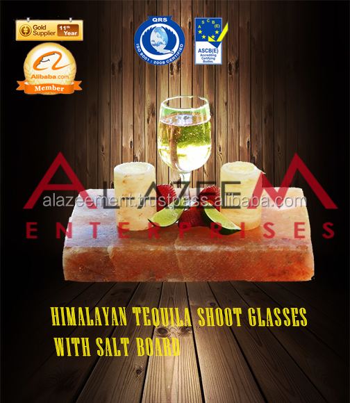 Himlayan Tequila Shoot Glasses With Salt Board
