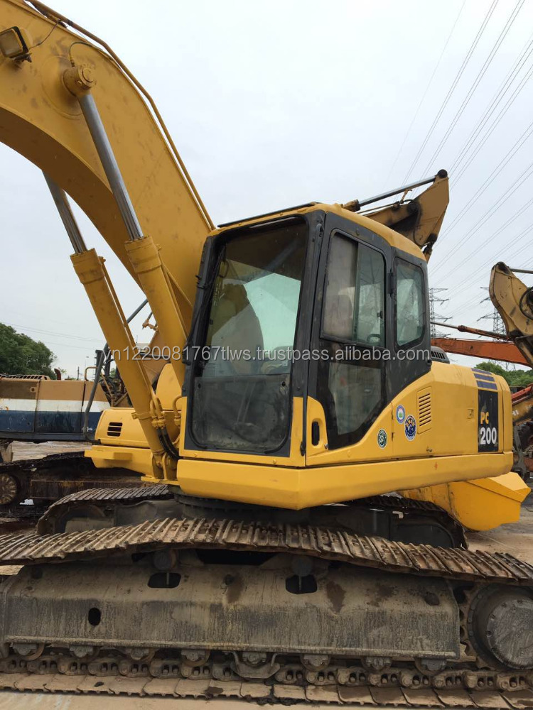 Used komatsu PC200-7 excavator second hand for sale low price