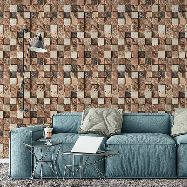 Brick Wall-Stone Wallpaper-3D Pattern-Washable-Reusable Non-woven Paper