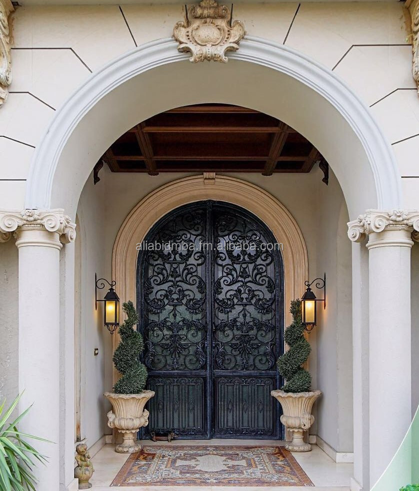 Wrought Iron Handmade Die Cast Luxury Iron Gates