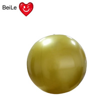 Customized 24IN PVC solid gold color inflatable beach ball