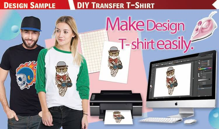 Light T shirt Heat Press Transfer Paper